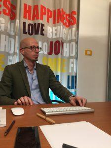 Valentino Macri in ufficio