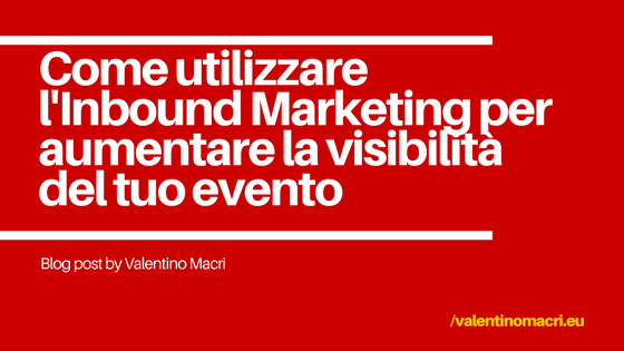 Visual del titolo del blog post_Inbound Marketing_evento